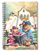 Reading The Bible In La Iruela In Spain Spiral Notebook