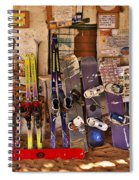 Ready For Sand Skiing Spiral Notebook