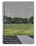Ready For The Football Season Panorama Digital Art Spiral Notebook