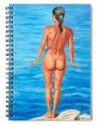 Ready To Take The Leap Spiral Notebook