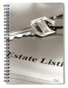 Real Estate Listing And Hosue Keys Spiral Notebook