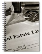 Real Estate Listing And Lock Box Spiral Notebook
