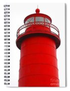 Really Red Lighthouse Spiral Notebook