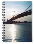 Recesky - Benjamin Franklin Bridge 1 Spiral Notebook