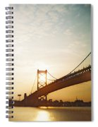 Recesky - Benjamin Franklin Bridge 2 Spiral Notebook