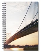 Recesky - Benjamin Franklin Bridge 3 Spiral Notebook