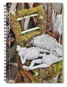 Reclining Amphibians And A Bird Spiral Notebook