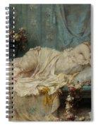 Reclining Beauty Spiral Notebook