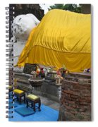 Reclining Buddha Monument Spiral Notebook