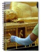 Reclining Buddha Prayer Candles Spiral Notebook