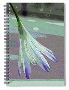 Reclining Lily Abstract Spiral Notebook