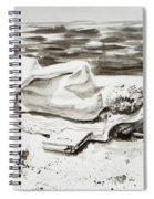 Reclining Nude Study Resting At The Beach Spiral Notebook