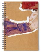 Reclining Semi-nude With Red Hat Spiral Notebook