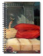 Reclining Woman Spiral Notebook