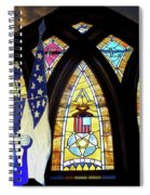 Recollection Union Soldier Stained Glass Window Digital Art Spiral Notebook