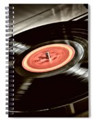 Record On Turntable Spiral Notebook