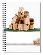 Recycling Boxes By Box Characters And Stretcher Spiral Notebook
