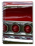 Red 1960 Chevy Tail Light Spiral Notebook