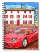 Enzo Ferrari S Garage With 1995 Ferrari 512m Spiral Notebook