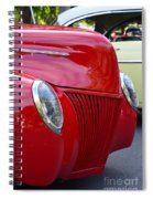 Red 40 Ford Spiral Notebook