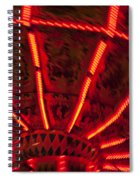 Red Abstract Carnival Lights Spiral Notebook
