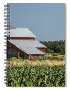 Red Amish Barn And Corn Fields Spiral Notebook