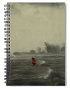 Red Among The Waves Spiral Notebook