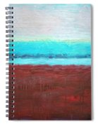Red And Aqua Get Married Spiral Notebook