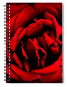 Red And Black Layers Spiral Notebook