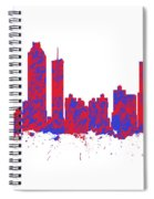 Red And Blue Art Print Of The Skyline Of Atlanta Georgia Usa Spiral Notebook