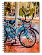 Red And Blue Rides Spiral Notebook