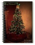 Red And Gold Christmas Tree With Caption Spiral Notebook