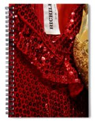 Red And Gold Holiday Spiral Notebook