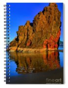 Red And Gold In The Sea Spiral Notebook