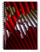 Red And Gold World Map Spiral Notebook