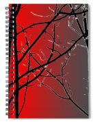 Red And Gray Spiral Notebook