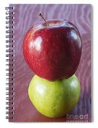 Red And Green Apples Spiral Notebook