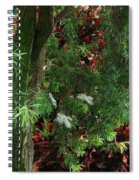 Red And Green Foliage Spiral Notebook