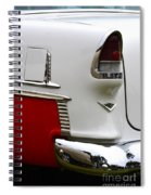 Red And White 1955 Chevy Spiral Notebook