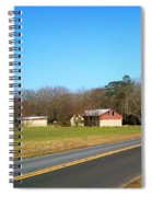 Red And White Barn With Trees Spiral Notebook