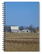Red And White Barns Spiral Notebook