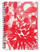 Red And White Bouquet- Abstract Floral Painting Spiral Notebook