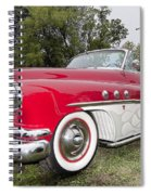 Red And White Classic Spiral Notebook