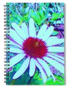Red And White Flower Spiral Notebook
