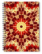 Red And White Patchwork Art Spiral Notebook