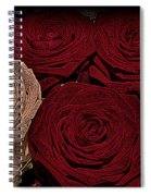 Red And White Roses Color Engraved Spiral Notebook
