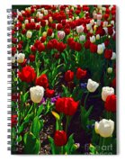 Red And White Tulip Art Spiral Notebook