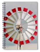 Red And White Windmill Spiral Notebook