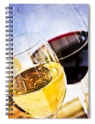 Red And White Wine Spiral Notebook