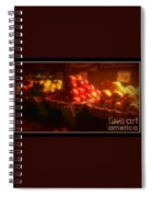 Red And Yellow Apples In Baskets Spiral Notebook